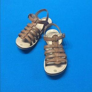 Mini Boden brown leather Sandals